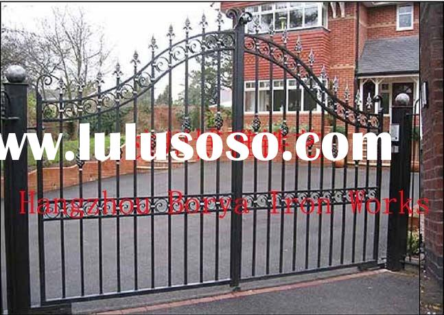 modern forged iron metal gates and fences design