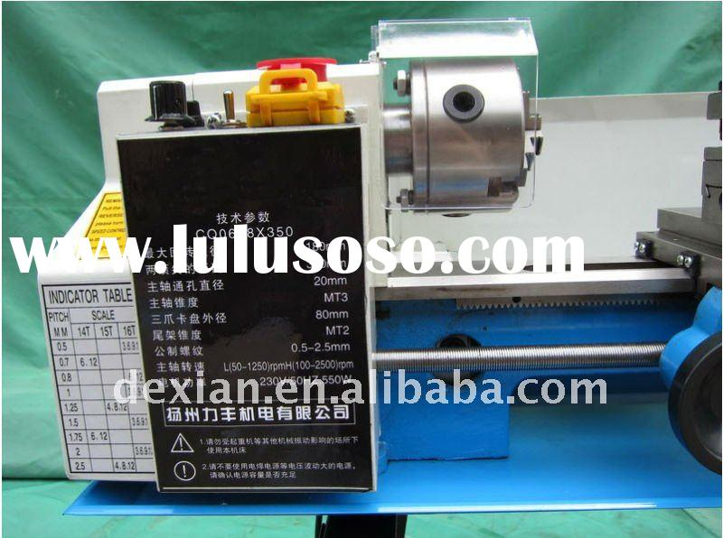 name of parts of lathe machine DX-C0 high quality Variable speed, small size lathe machine