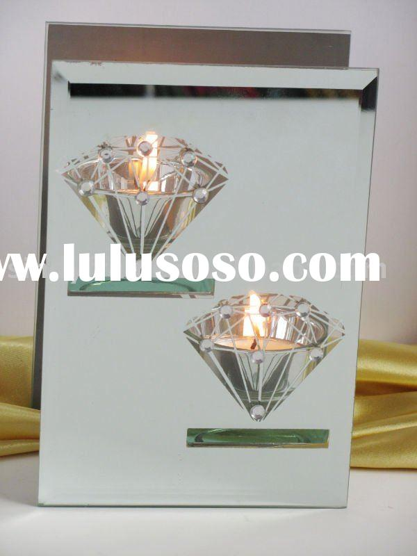 new product,glass tealight candle holder,two cups,washed mirror,home decoration