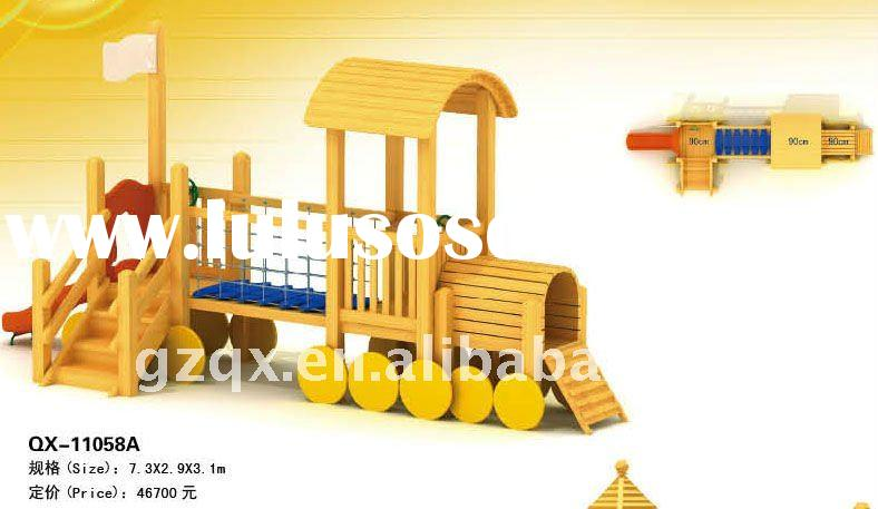 outdoor playground equipment in wood amusement park wood train 2011 the most environment friendly pl