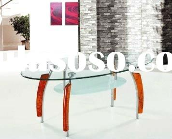 oval glass coffee table(hot sell)