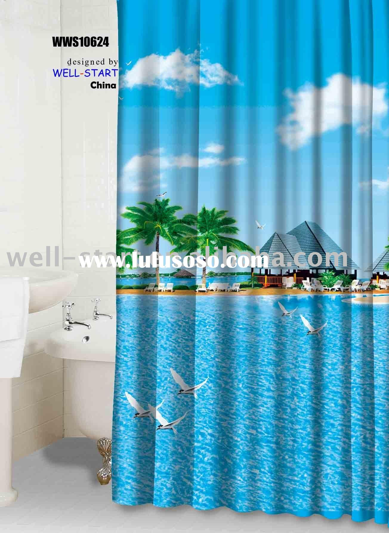 Blank Polyester Shower Curtains For Sublimation 2 Blank