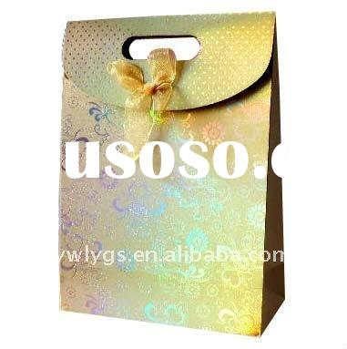 sealable paper gift bag.cute gift bags.cover-lifiting bags