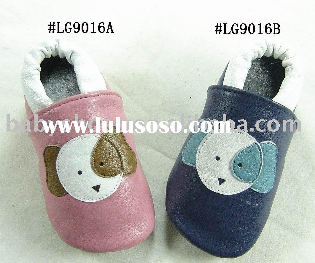 soft sole colorful sheep leather baby walking shoes