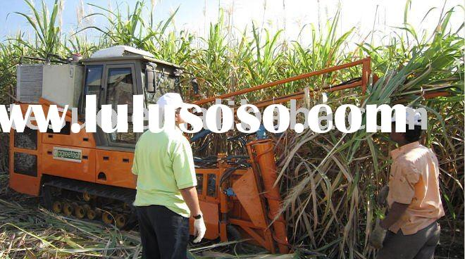 sugarcane harvester demo in India dealer Brand