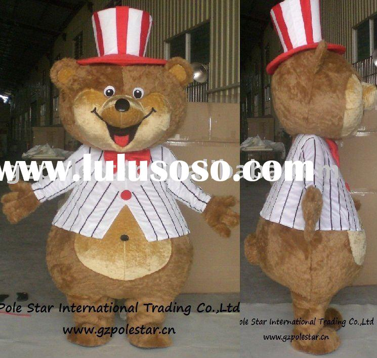 teddy bear circus mascot costume