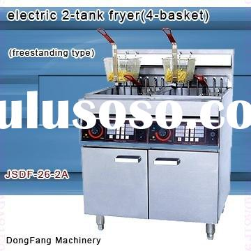 used deep fryer DF-26-2A electric 2 tank fryer (4 basket)
