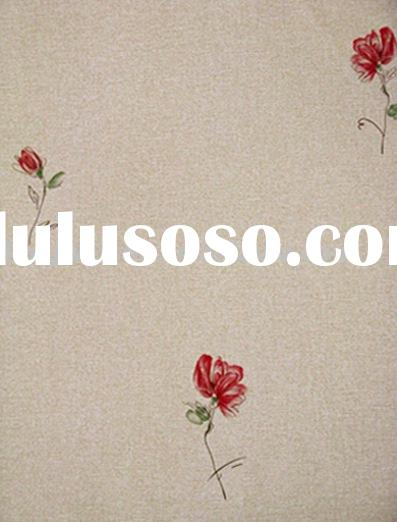 vinyl coated wallpaper/Floral wallpaper