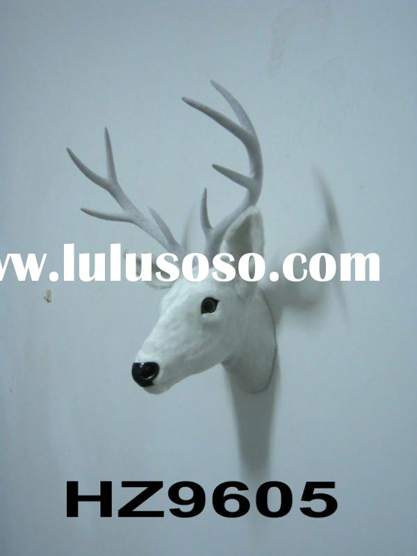 wall-mounted deer head, deer head decoration,white deer head,Christmas deer head,emulation deer head
