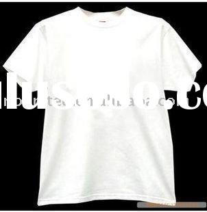 white blank cotton t shirts
