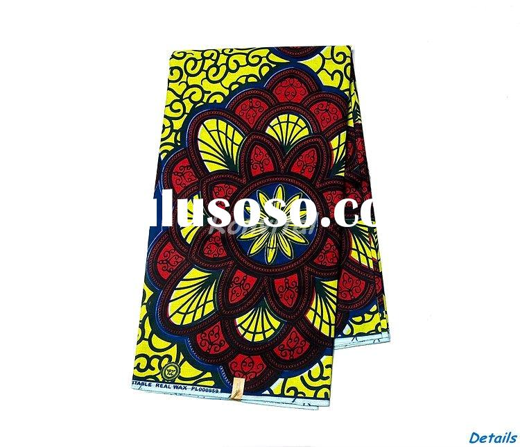 wholesale fashion veritable real wax print cotton fabric for sale 114c