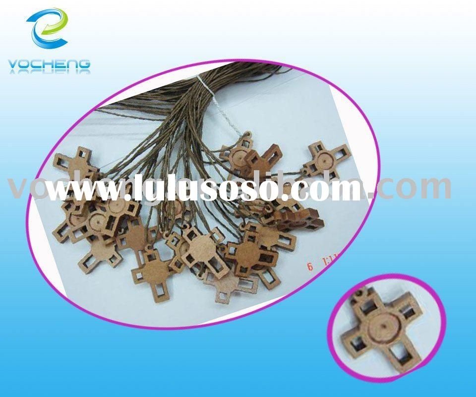 wooden Rosary Necklace