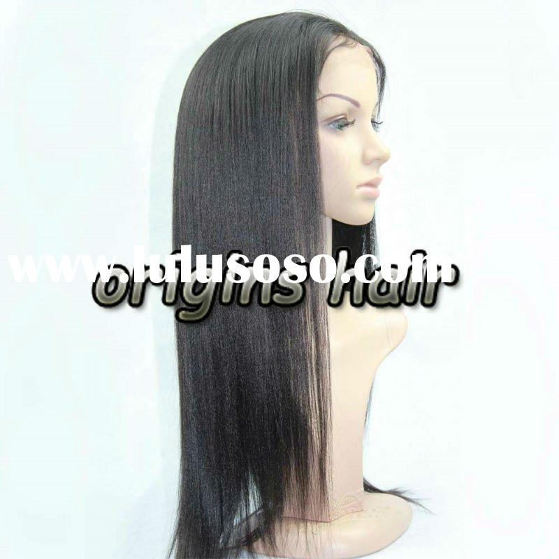 100% brazilian human hair full lace wig