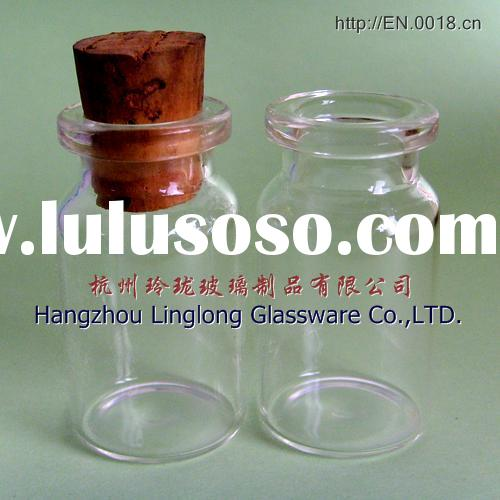 10ml glass bottle with cork