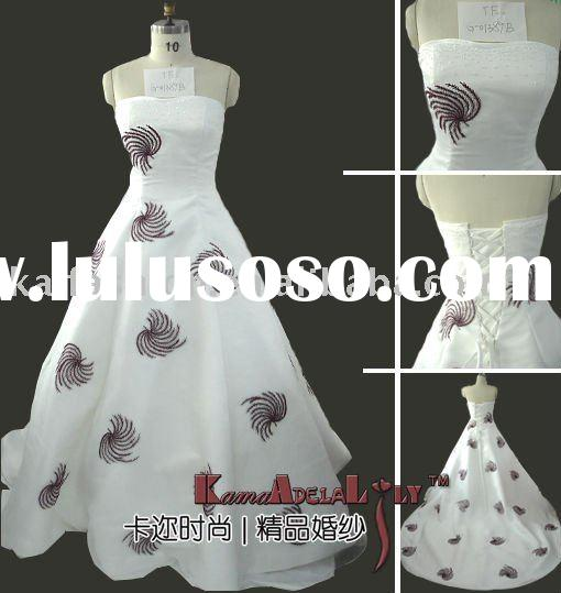 1389B A-line beading organza designer corset wedding gown(bridal gown) victorian ball gown wedding d