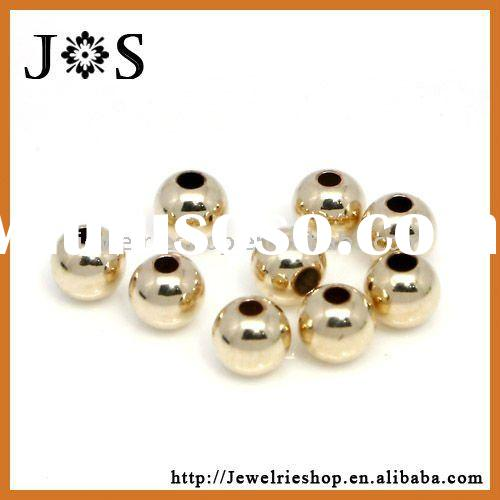 14k Gold Filled Smoothly Round Jewelry Spacer Bead Findings 3mm