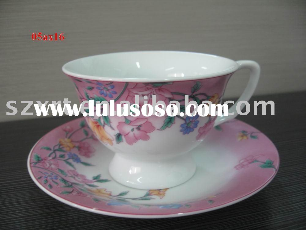 180 ml porcelain coffee cup saucer