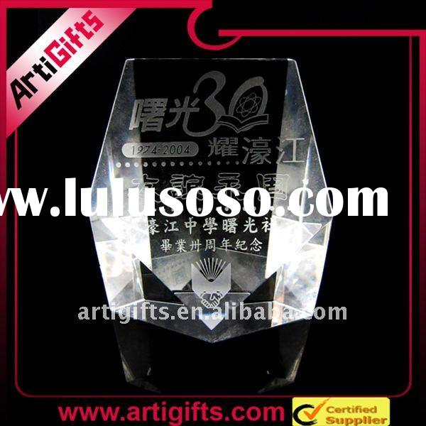 2011 Business promotional 3d laser crystal award