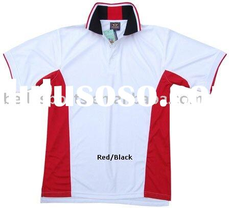 2011 hottest style for Men T shirt with colorful rib collar