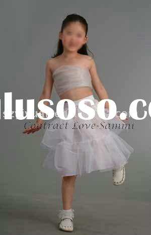 2011 new style elegant white silk tulle girl petticoat dress gown CL-S-0427