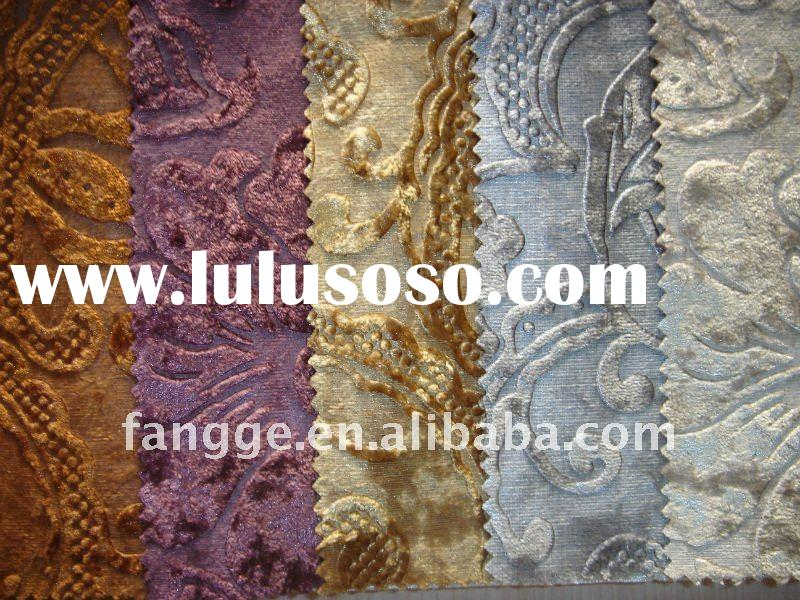 2012 new style velvet fabric for sofa