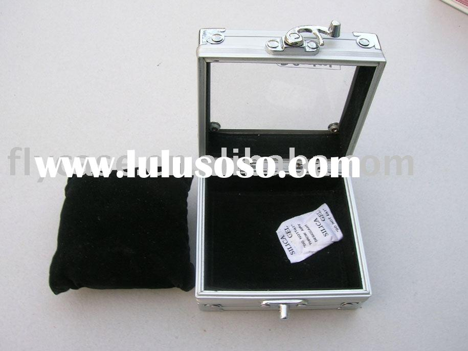 2012 watch box ,aluminum watch display case ,clear top watch case ,gift case