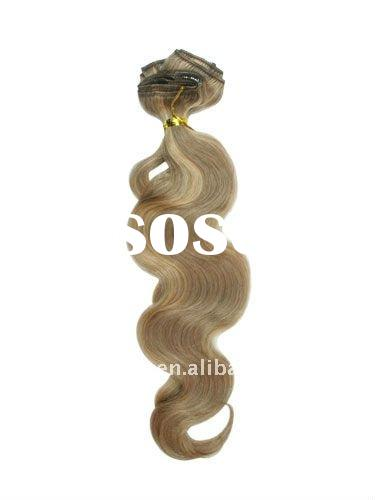 26 inch human hair extensions clips WHOLESALE FOR CHRISTMAS