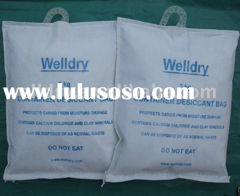 2kg container desiccant bag with plastic hook (double layers bag)