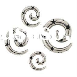 316l stainless steel ear taper body jewelry,ear plugs body piercing jewelry,ear expander,ear stretch