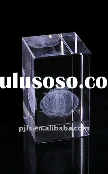 3D Crystal love, image is carven inside ,laser crystal
