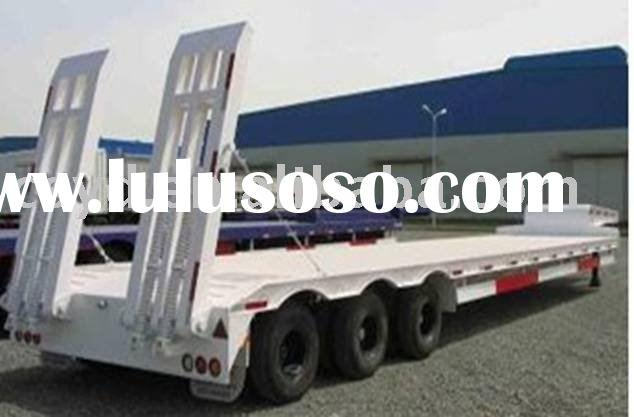 3 axle Lowbed Semi Trailer payload 50Ton