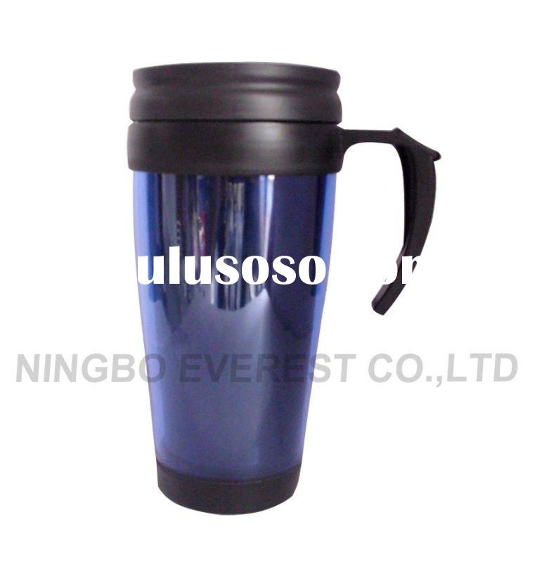 400ml Double Wall Plastic Tumbler with Handle