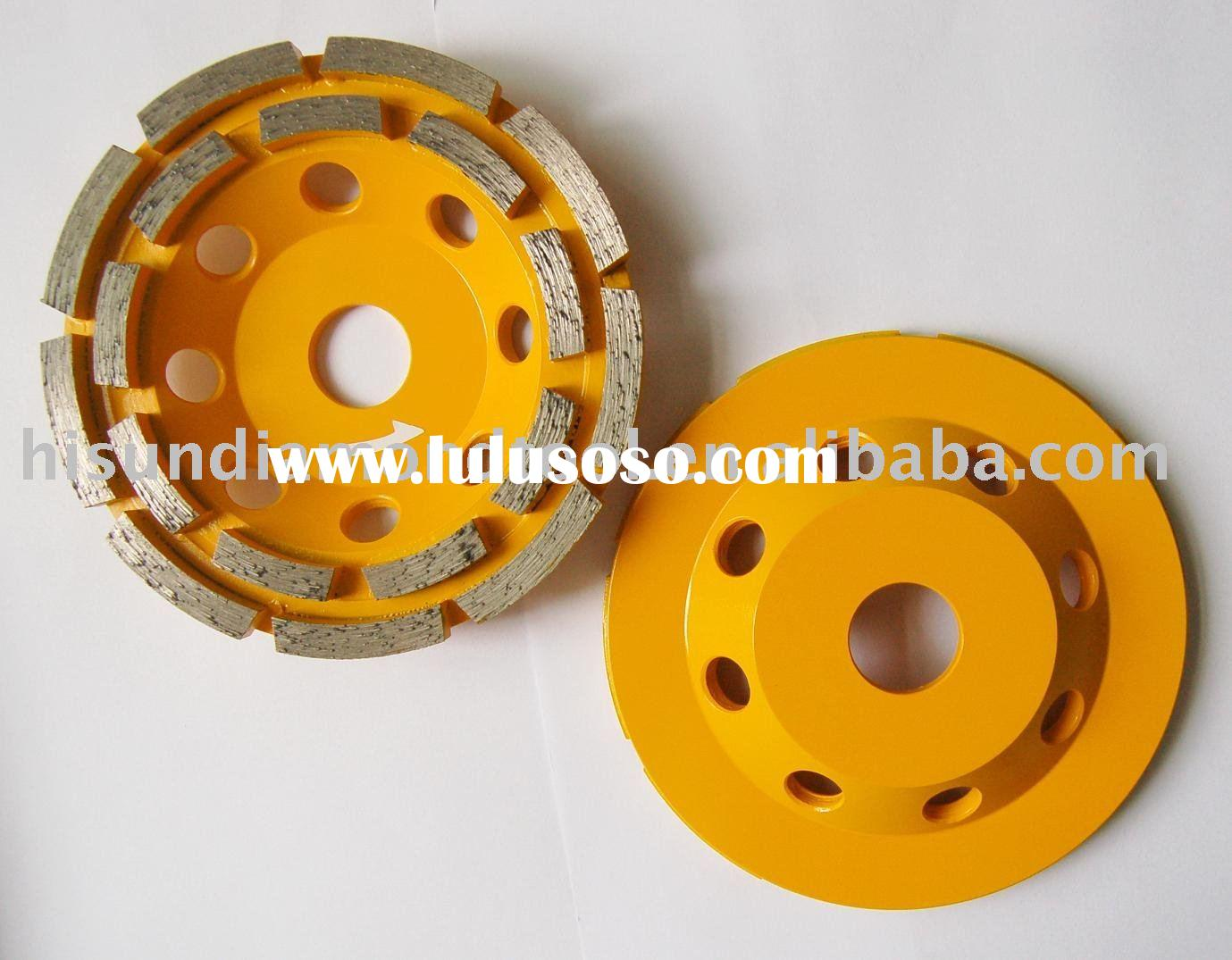 5'' 125mm Double row diamond cup wheel for grinding concrete