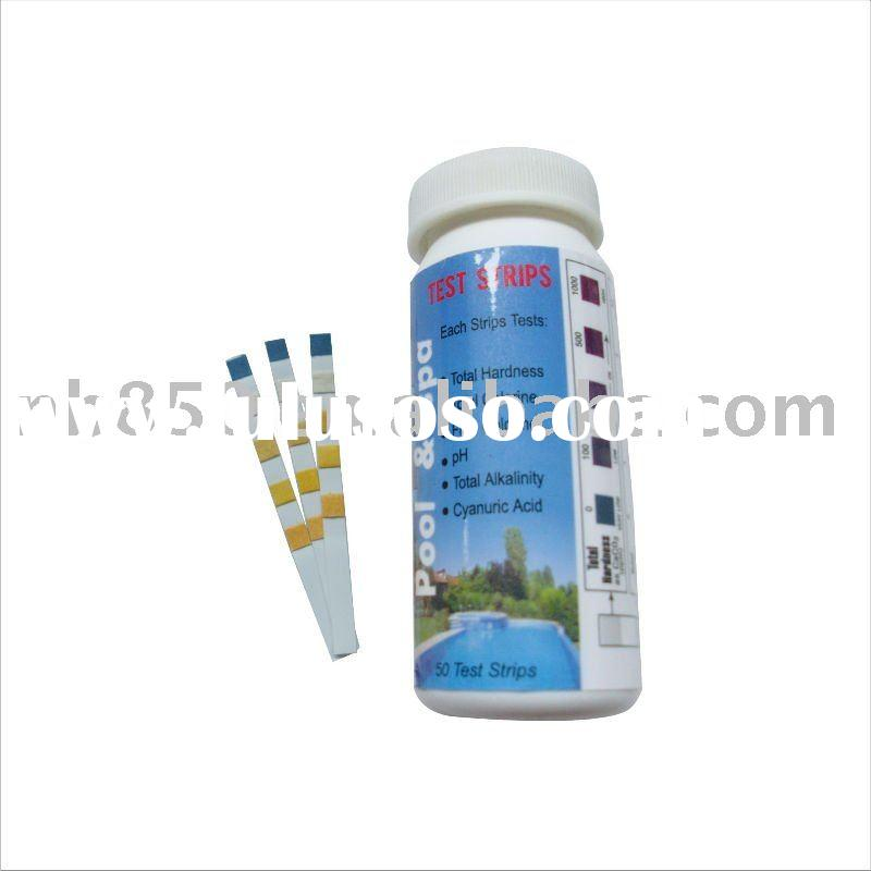 6-way Test Stripes(Total Hardness/Total Chlorine/Free Chlorine/PH/Total Alkalinity/Cyanuric Acid)For