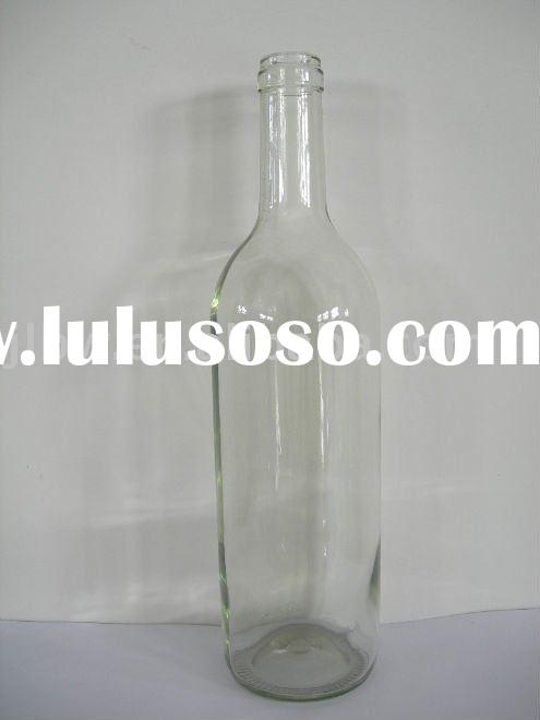 750ml wine bottle glass bottle with cork