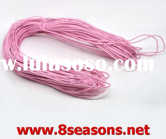 80M Pink Waxed Cotton Necklace Cord 1.5mm