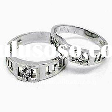 925 Silver Couple Rings Rings Fashion Jewelry