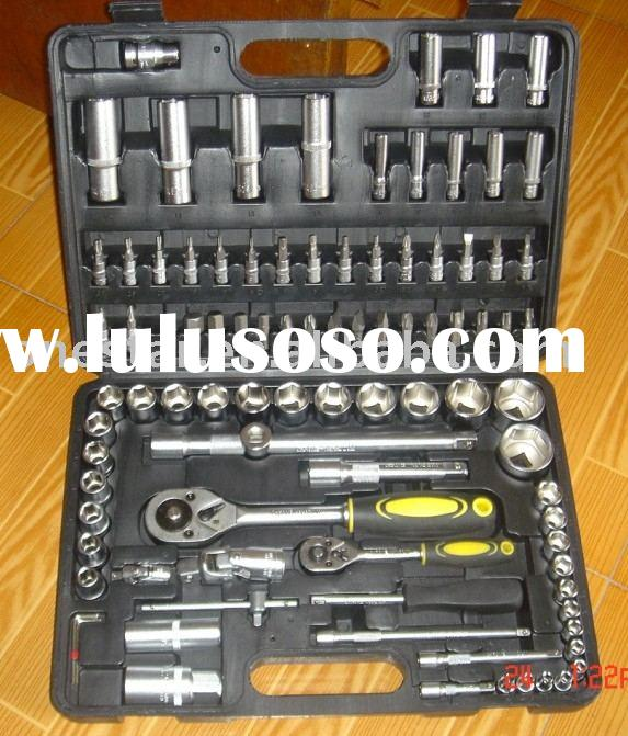 "94PCS SOCKET SET hand tools for motor vehicle repairing (1/4""&1/2"")"