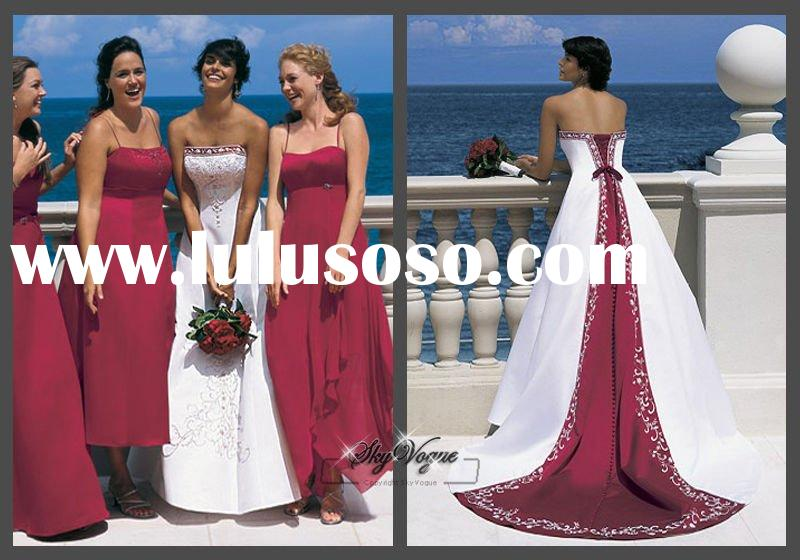 AA1516* red and white wedding dresses