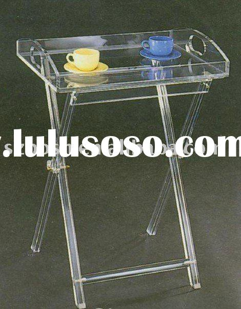 Acrylic Folding Table,Perspex Furniture,Plexiglass End Table