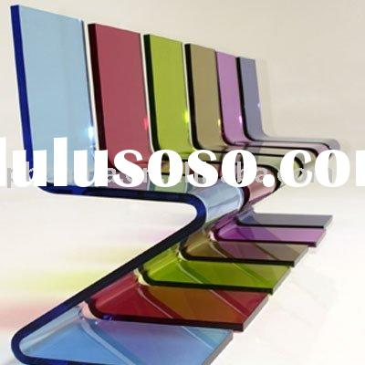 Acrylic Lucite Z Chair;Acrylic Zigzag Chair;Colored Acrylic Z Chair