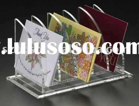 Acrylic Memo Card Holder,Perspex Greeting Card Stand,Plexiglass Card Display