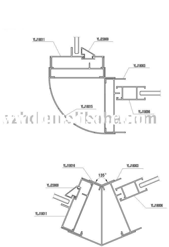 aluminum window  aluminum window parts diagram