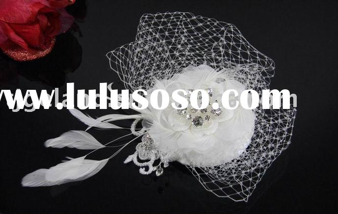 Bridal Hat and Bird Cage Veil