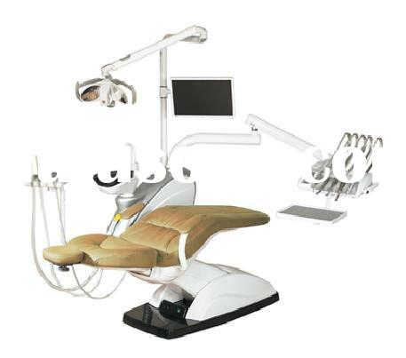 CE certificated charming AJ18 dental chair unit hanging type with leather upholstery