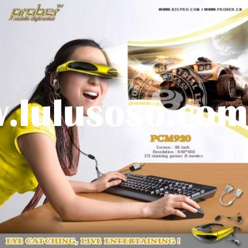 China Wholesale fashionable HD 3D video glasses with wireless