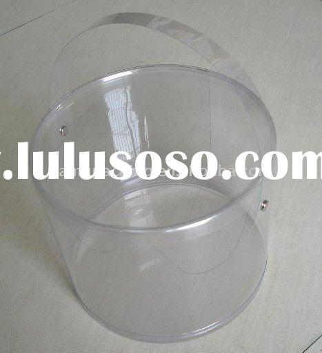 Clear plastic cylinder with handle for nutlet packaging