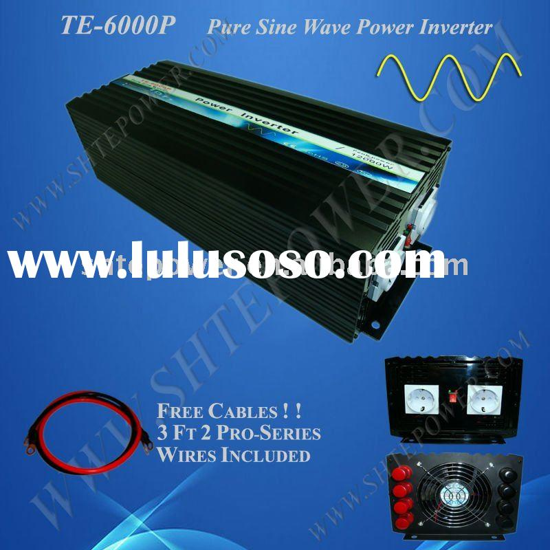 DC to AC off grid pure sine wave solar power inverter 6KW