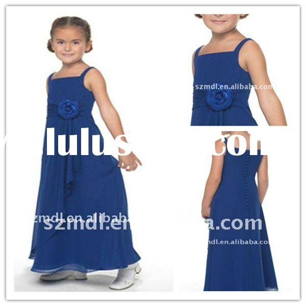 Fashion Square Neckline and the Flowing Skirt in Full Length Flower Girl Dress