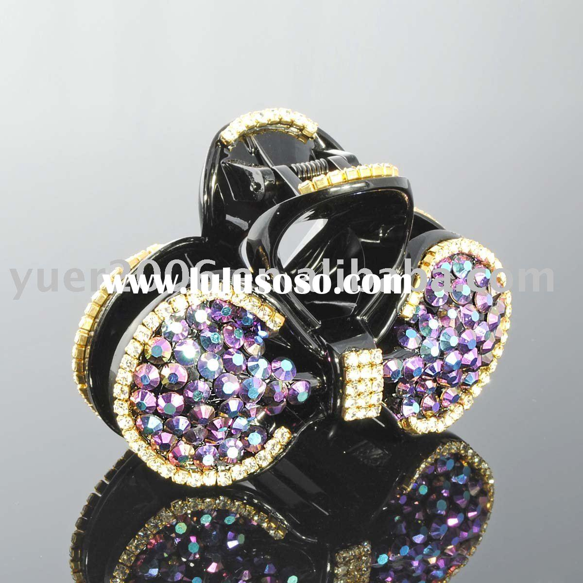 Fashion crystal stone hair accessory/hair jewelry/hair holder/hair clip/hair oranment/Hair Claw